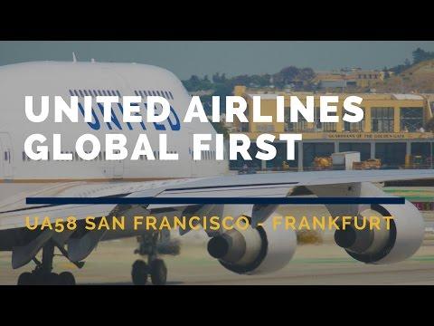 United Airlines Global First UA58 San Francisco-Frankfurt Flight Report ATC Channel 9 聯合航空頭等ユナイテッド