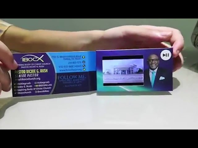Funtek 2 4'' LCD Video Business Card VBC-024M for VIPs