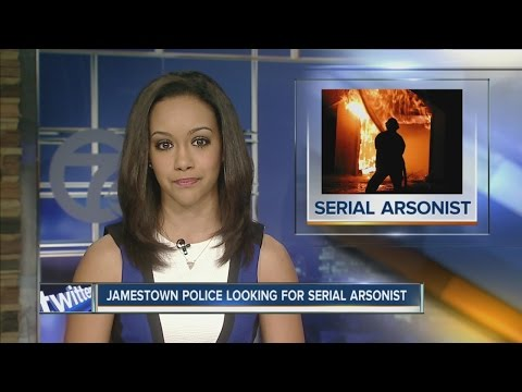 Serial arsonist sought in Jamestown