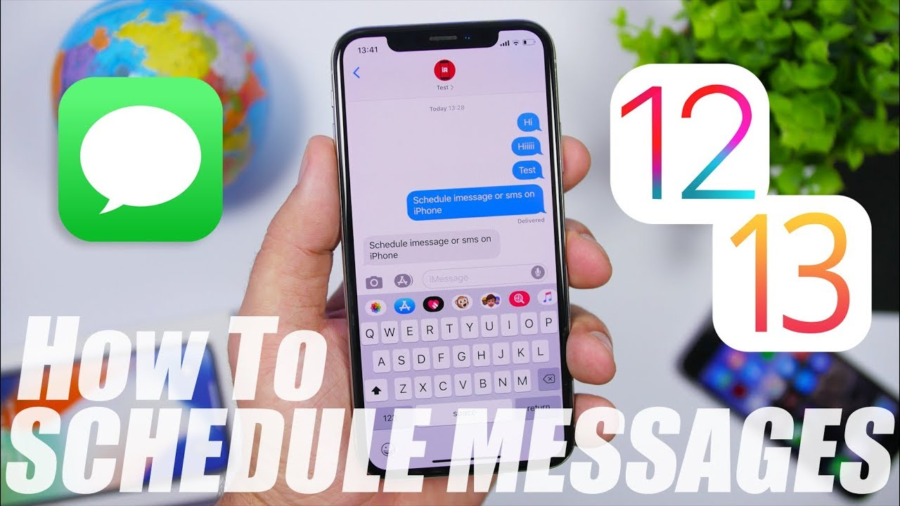 Schedule Text Messages Imessages On Iphone Ios 12 Ios 13 Youtube