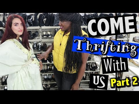 It's a girl! Trying on everything at Goodwill |Come Thriftin