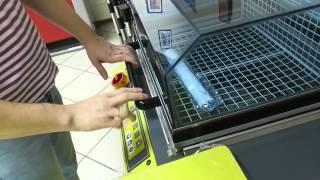 Упаковка в термоусадочную пленку бумажной трубки(, 2015-02-18T13:34:04.000Z)
