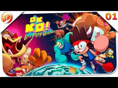 OK K.O.! Let's Play Heroes PT-BR #01 - Primeiro dia de Trabalho - Dawn of Games