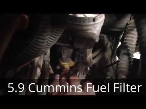 cummins diesel fuel filter change 5 9 cummins dodge ram 2500cummins diesel fuel filter change 5 9 cummins dodge ram 2500 3500 youtube