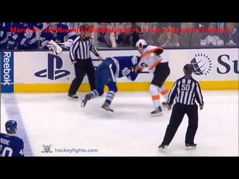 Top Ten NHL Hockey Fights of March 2014 {HD}