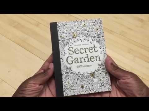 Adult Coloring Book Review Coloring Postcards 20 Secret Garden Postcards By Johanna Basford