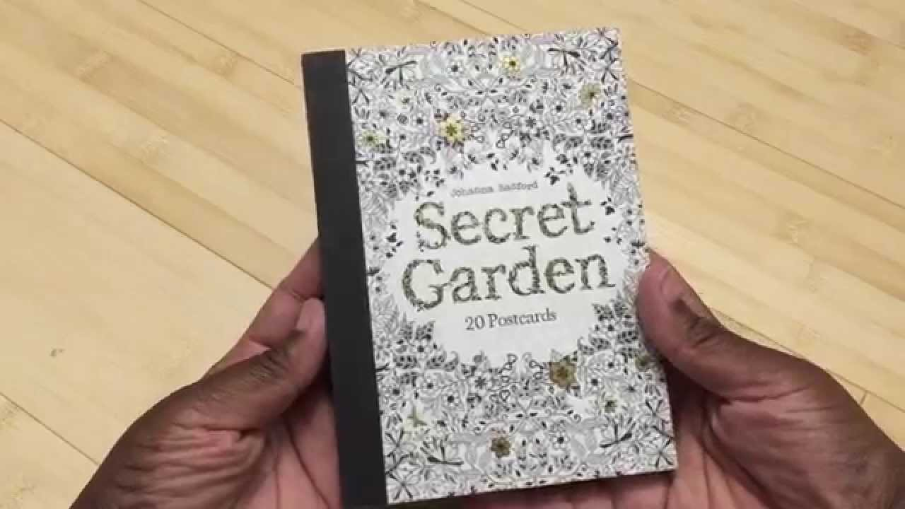 Adult Coloring Book Review POSTCARDS 20 Secret Garden By Johanna Basford