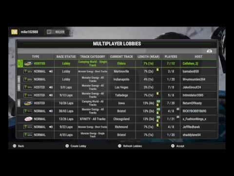Nascar league of america race xfinity race 2 Bristol