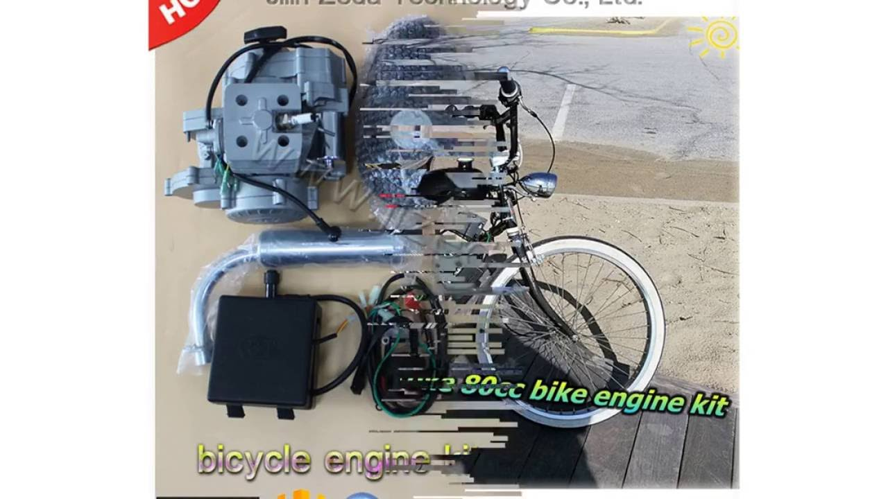 Electric Start 2 Stroke 80cc Bicycle Engine Kits