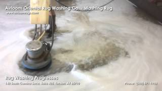 Airloom Oriental Rug Washing Co. - Rug Washing Progresses