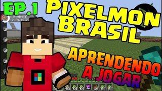 Pixelmon Brasil - ep1 - Um Bom Servidor De pixelmon(download modpack atualizado) aprendendo a jogar