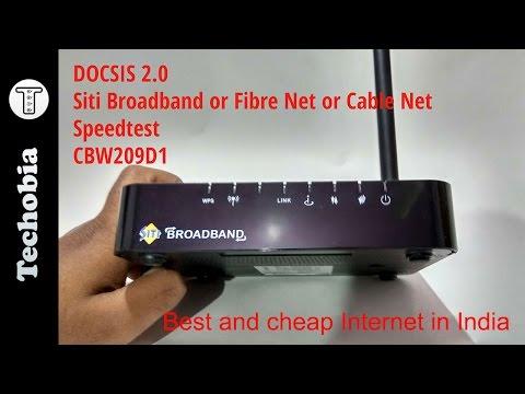 Siti Broadband Fibre Internet | DOCSIS 2.0 | CBW209D1 | Overview | Speedtest | Hide Wifi or SSID