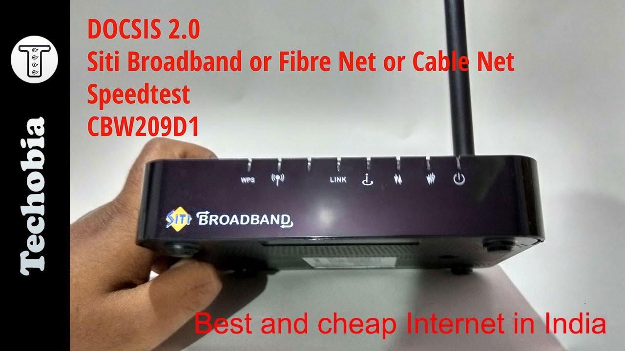 Siti Broadband Fibre Internet | DOCSIS 2.0 | CBW209D1 ...