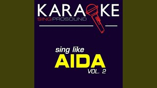 The Past Is Another Land (Karaoke Instrumental Version) (In the Style of Aida)