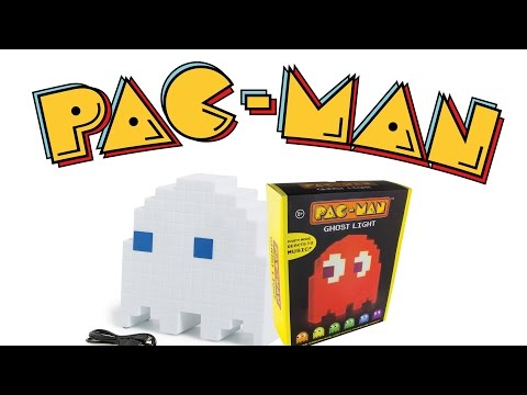 PAC-MAN Ghost Lamp -Blinky Geist Lampe- Unboxing - Test