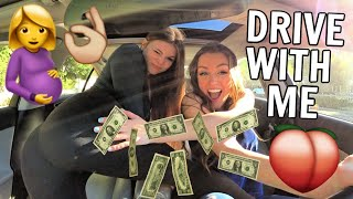 DRIVE WITH ME: TWERKING W/ TEEN MOM SIERRA WATTS & ALLY HARDES…