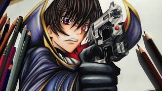 Drawing Lelouch Vi Britannia  of the Rebellion   ~ Code Geass