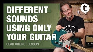 Different sounds using only your Guitar | Tutorial