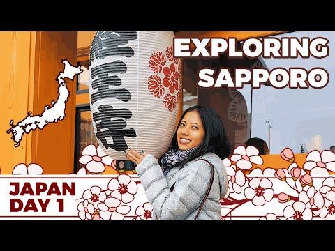 EXPLORING SAPPORO   Day 1 Vlog