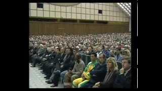 Pope John Paul II talks to sport