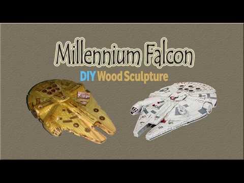 DIY Millenium Falcon Wood Carving