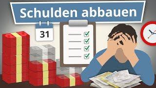 Schulden Abbauen: 4 Tipps um effektiv Schulden loszuwerden!