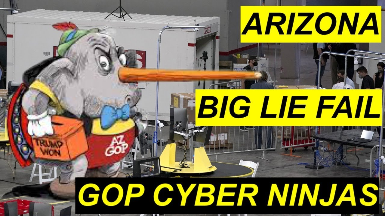Arizona how GOP Cyber Ninjas failed to change anything - the Audit that was  a Trump BIg Lie Farce - YouTube