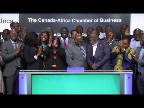 The Canada-Africa Chamber of Business close Toronto Stock Exchange, October 17, 2017