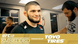 On Episode 2 of UFC 229 Embedded, lightweight champion Khabib Nurmagomedov takes in BJJ and BBQ with the Vegas branch of his MMA family.