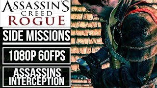 ASSASSIN'S CREED ROGUE (100% Sync) All 12 Assassins Interception Side Missions [1080p 60fps]