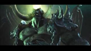 Конечный ролик кампании орков в Warcraft III