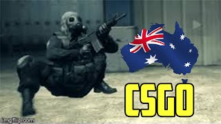 Australian CSGO - The Legend Of The Black Blues Player.