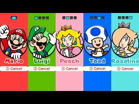 Super Mario 3D World - All Characters