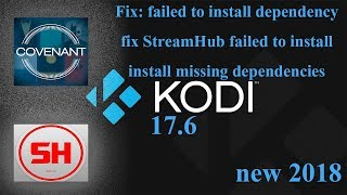 UPDATE! (Not working)😢 fix failed to install. 17.6 StreamHub fail fix. install missing dependencies