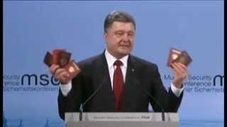 Porochenko brandit des passeports russes pour prouver l'agression en Ukraine