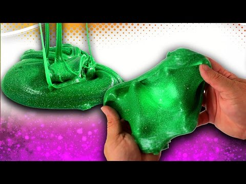 how-to-make-green-glitter-slime!-easy-slime-recipe-without-borax