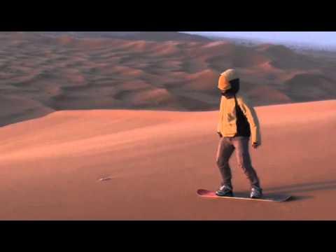 Morocco sandboarding fail - Merzouga Erg Chebbi April 2012