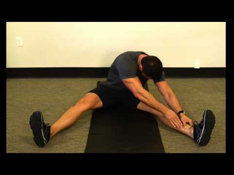hamstring wide legged stretch  seated/ single leg  youtube