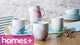 Diy Idea: Marbled Mugs - Homes+