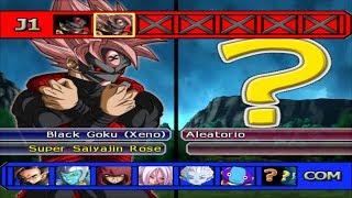 Dragon Ball Z Budokai Tenkaichi 3 - Xeno Black Goku Time Breaker SSJ Rose VS MODS ALEATORIOS #17