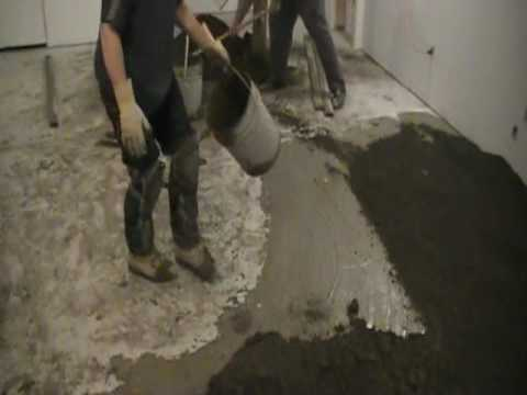 How To Bond Floor Mix With Dry Pack Cement 5 Of 9 Youtube
