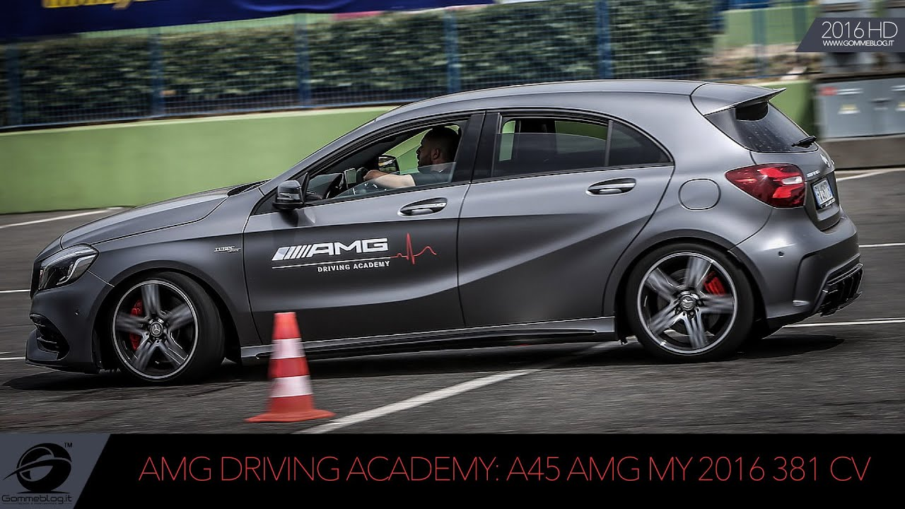 Superior Mercedes Benz A45 AMG TEST AMG DRIVING ACADEMY   YouTube