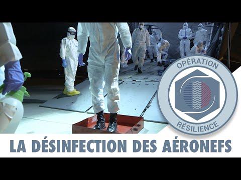 RÉSILIENCE : Les pompiers de l'air aident à la désinfection des équipages et des aéronefs