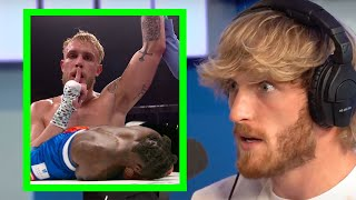 LOGAN PAUL REACTS TO JAKE'S KO ON NATE ROBINSON