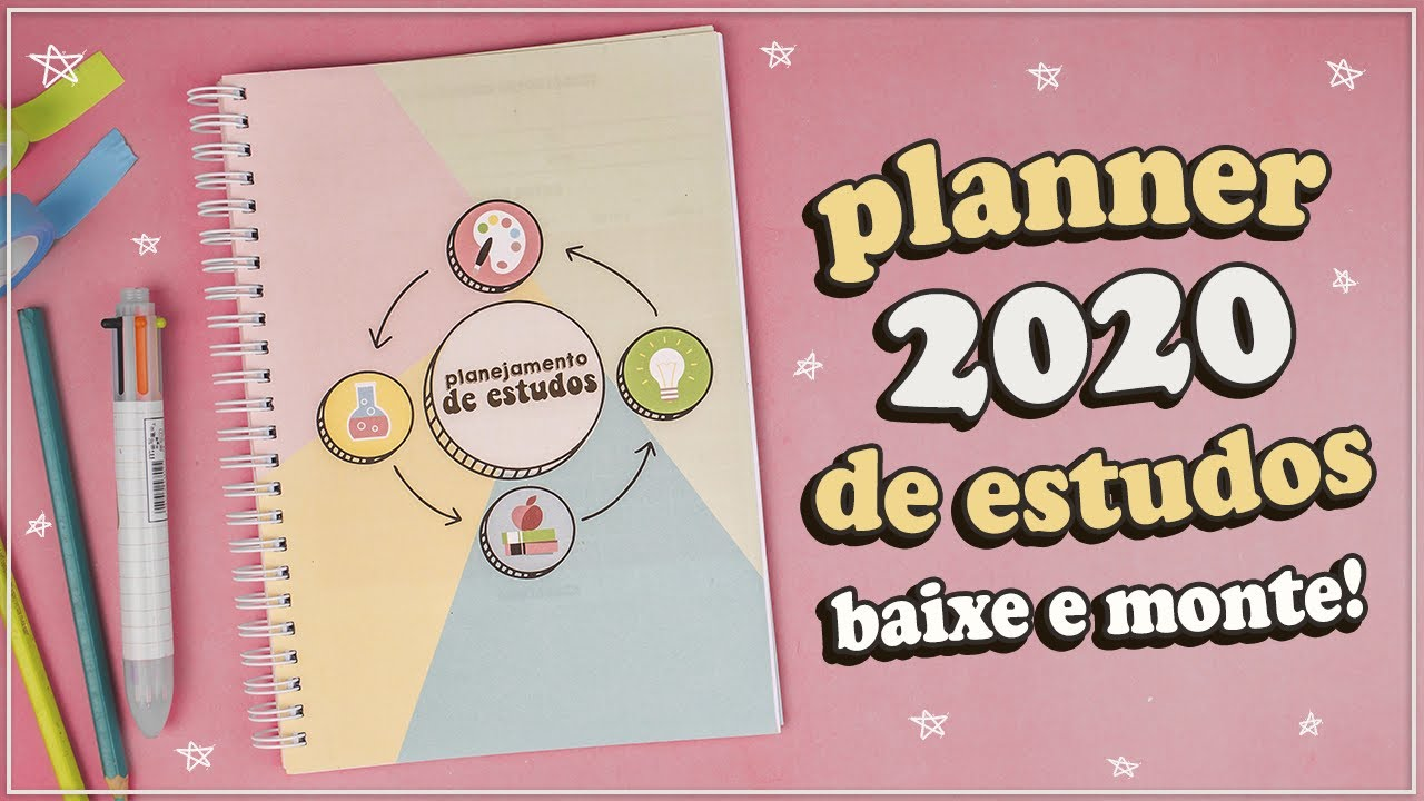 DIY: PLANNER DE ESTUDOS 2020 PARA DOWNLOAD!! (VOLTA AS AULAS)