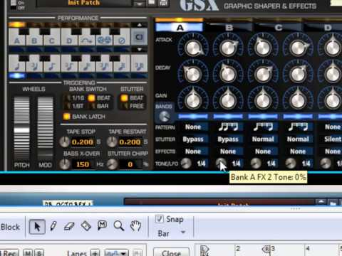 Sononics GSX Transient effect for Reason