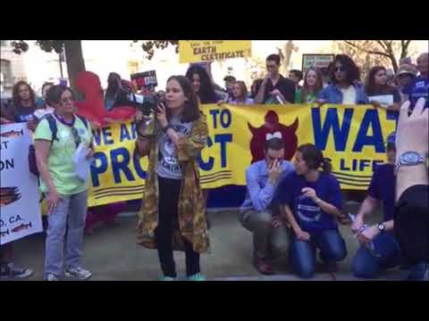 Ariana Rickard at Sacramento offshore oil drilling protest