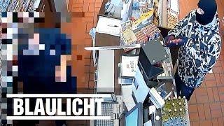 Schwert-Überfall auf Tankstelle - Polizei sucht Täter