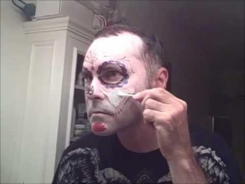 Sugar Skull Makeup With Temporary Tattoos Youtube