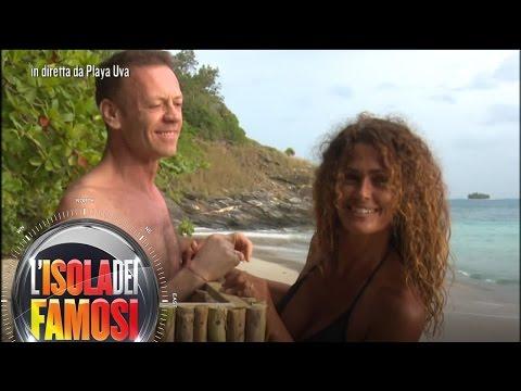 L'isola dei famosi - Samantha incontra Rocco Siffredi